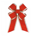 Canada Red with Silver Trim Nylon Bow