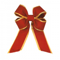 Old Glory Red Gold Trim Nylon Bow