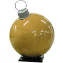 Gold Fiberglass Ornament with Cap