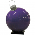 Purple Fiberglass Ornament with Cap