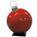 Red Fiberglass Ornament with Cap