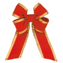 Red Gold Trim Velvet Bow