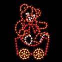 7' Silhouette Teddy Bear Car