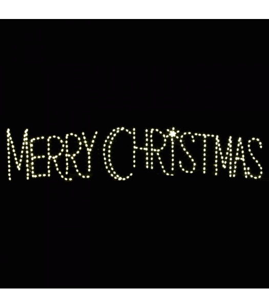 20' Merry Christmas Skyline
