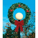 4' Wreath Lamp Cover with Bows