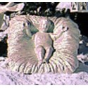 Life Size - Infant Jesus in Crib - Iridescent Pearl Finish