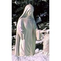 Life Size - 4' Mary Kneeling - Iridescent Pearl Finish