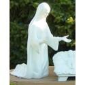 Life Size - 4' Mary Kneeling - White Finish