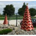 Red Fiberglass Tree - Set of 3