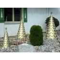 Gold Fiberglass Tree - Set of 3