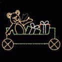 8' x 9' Animated Waving Bear Car