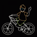 8' x 10' Bicycling Boy