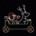 9' Elf and Deer Car