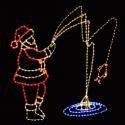 12' x 12' Animated Fishing Santa Claus