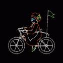 10' x 10' Bicycling Mrs. Santa