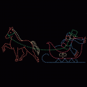 8' x 20' Victorian Horse and Sleigh