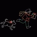 7' x 12' Boy Running with Dog