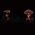 Parachuting Santa Claus