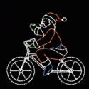 9' x 10' Bicycling Santa