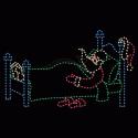 15' Animated Waving Santa with Toy Bag