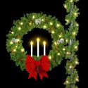 Deluxe Triple Candle Wreath