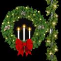 Triple Candle Wreath