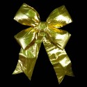 Velvet 3D Structural Bow in Gold