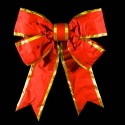 Velvet 3D Structural Bow with Gold Trim
