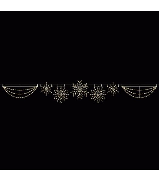 Deluxe Snowflake Skyline