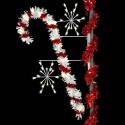 7' Sparkling Candy Cane & Snobursts