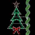 8' Enhanced Christmas Tree w/ Bow