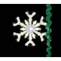 5' Sparkling Forked Snowflake