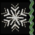 5' Enhanced Deluxe Forked Snowflake