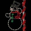 8' Top Hat Snowman