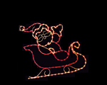 Santa Christmas Light Displays