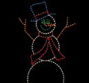 Gingerbread & Snowman Light Displays
