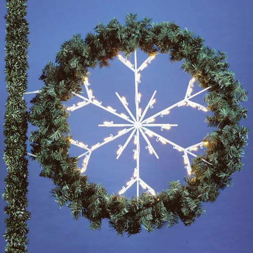 6' Snowflake Wreath