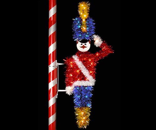 Toy Solider and Snowmen Pole mount Decorations