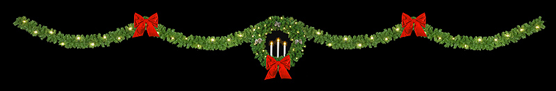 40' Triple Candle Wreath Streetline