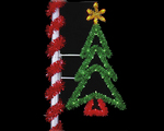 Flagpole christmas tree lights http www allamericanchristmas com