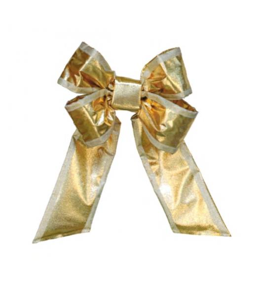 Gold Silver Trim Mylar Bow