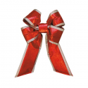 Red Silver Trim Mylar Bow