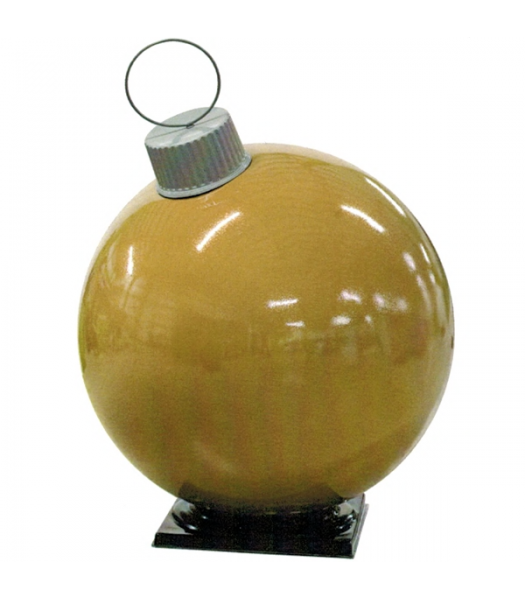 Gold Fiberglass Ornament with Cap