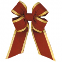 Holiday Red Gold Trim Velvet Bow