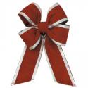 Holiday Red Silver Trim Velvet Bow