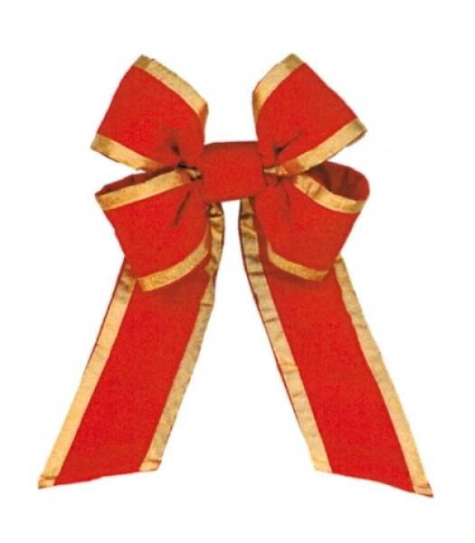 Red Gold Trim Velvet Bow