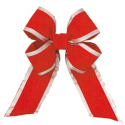 Red Silver Trim Velvet Bow