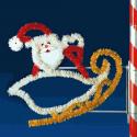 4' Santa & Sleigh