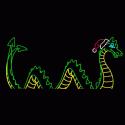 13' x 30' Sea Serpent with Santa Hat