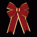 Imperial Loop Bow in Red with Gold Trim